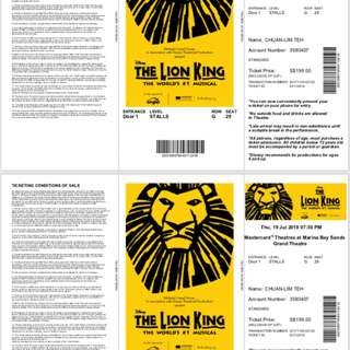 🚚 Lion King Tickets
