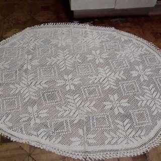 Crochet Oblong Table Cover