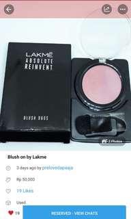 Di up lagi nih! Blush on by Lakme
