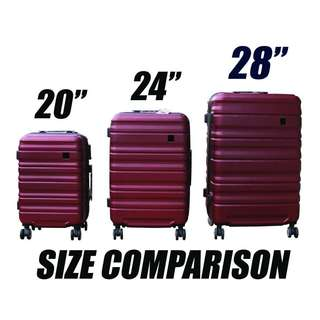 "Hardcase Quality Luggage Bag Travel for RENT. Size 20"" 24"" 28"""