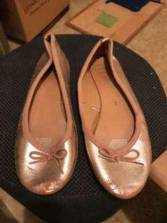 Rubi copper ballet flats bow