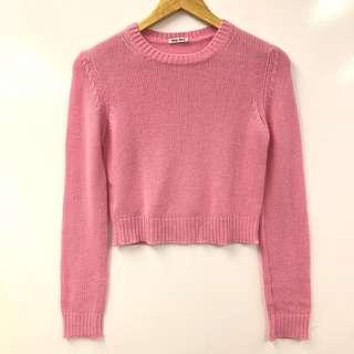 粉紅色冷衫 Miu Miu pink cashmere knit sweater size 38
