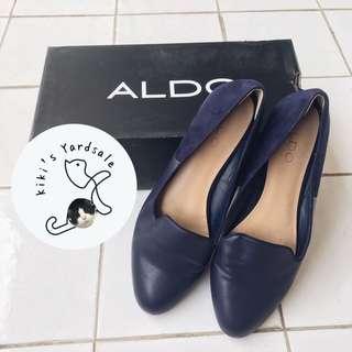 Aldo Blue Velvet Flats (Original)