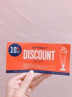 Citymilk discount voucher