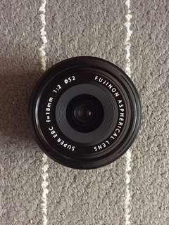 Fujinon 18mm F2 lens