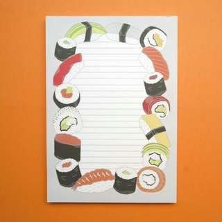 📣LAST ONE LEFT📣 Yummy Sushi Notepad