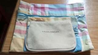 全新英國 Laura Ashley小銀包,布化妝袋(每個$60-$90)
