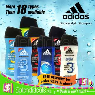 Adidas 3-in-1 Shower Gel 250ml - more than 18 types available