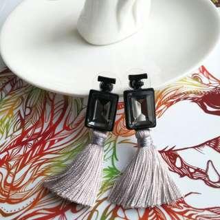 *NEW* Gem tassle earrings