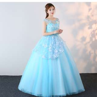 Pre order blue ball wedding bridal prom dress gown  RB0677