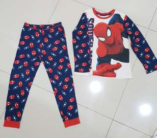 1 set Baju Tidur Mothercare Ori Spiderman