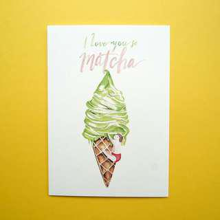 📣LAST ONE LEFT📣 I Love You So Matcha Greeting Birthday Card