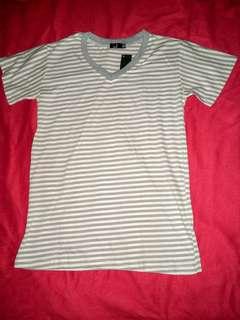 Gray & White stripes shirt