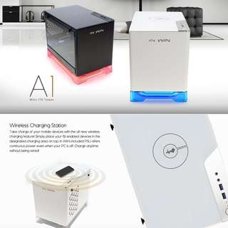CASING INWINA1 Mini ITX Inwin A1 Black White Premium chassis with Wireless Charging