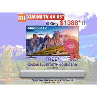 "TV Xiaomi TV 4A Android Smart TV- 65"" (4K)"