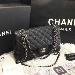 Chanel Quilted Caviar Classic Double Flap Bag 28cm
