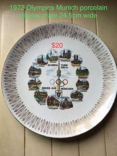 1972 Olympic display plate