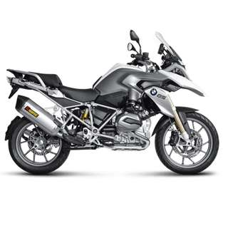 AKRAPOVIC Exhaust for BMW R 1200 GS Adventure 2013-2016 (Slip-on) (LTA Approved) (Titanium)