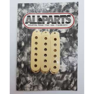 Set of 3 Cream Pickup Covers for Stratocaster® (by Allparts)