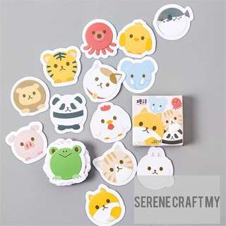 45pcs Animals' Heads Sticker Pack