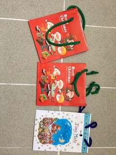節日 禮物袋3個 聖誕節