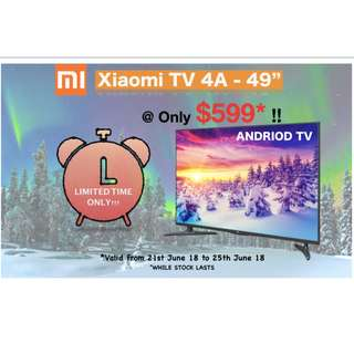 """Xiaomi 4A Android Smart TV - 49"""""""