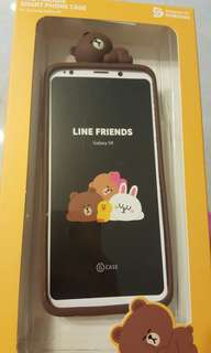 Samsung S9 Line Friends Brown Case