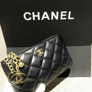 Chanel VIP Gift Pouch Lambskin Black