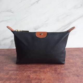 Pouch Kulit - Olivia Leather Pouch Black & Brown - Lewva
