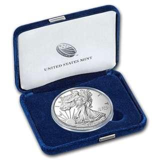 罕有現貨 包速遞 2016W 1oz 美國銀幣 鷹洋 精鑄 禮盒裝 連證書 收藏投資首選 全新包裝 silver eagle