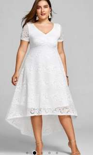 Plus size - White Dress