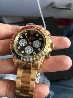 Gold diamond watch - from uk