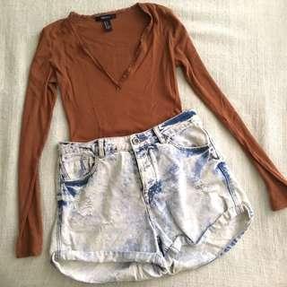 Hwaist shorts