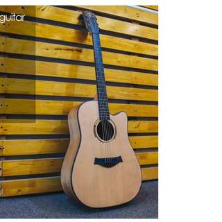 TAKLA M320E SEMI ACOUSTIC GUITAR 41' SPRUCE TOP