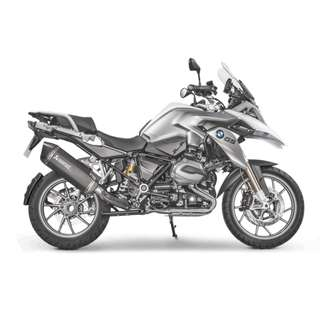 AKRAPOVIC Exhaust for BMW R 1200 GS Adventure 2017 2013-2018 (Slip-on) (LTA Approved) (Black)