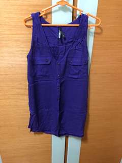Stradivarius purple top