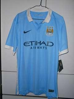 Nike Authentic Soccer Football Manchester City 2015-16 Jersey Fans Home 曼城 主埸 波衫 球衣 球迷版 L