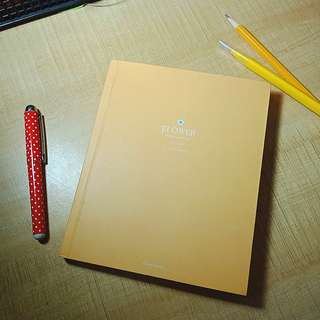 Mustard Yellow Flower Notebook