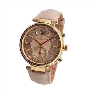 Michael Kors Sawyer Chronograph Rosegold Dial Ladies Watch