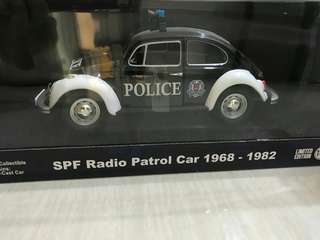 Classic Beetle SPF Police Car 1:18