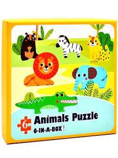 全新未開封 兒童動物拼圖 6合1 益智抵玩 (森林動物篇)