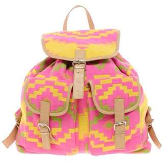 ASOS Aztec Geometric Backpack Bag