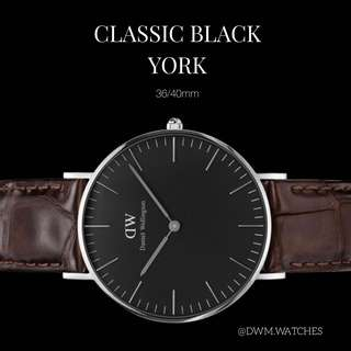 DW Classic Black York 36/40mm (silver/gold)