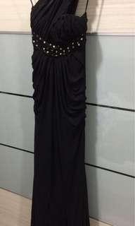 Lycra black beading dress