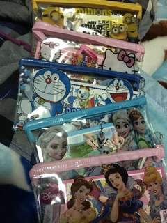 Pencil cases with ststionery
