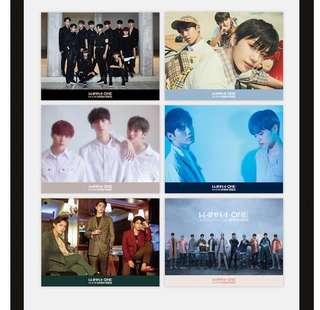 Wanna One 新專poster一套6張