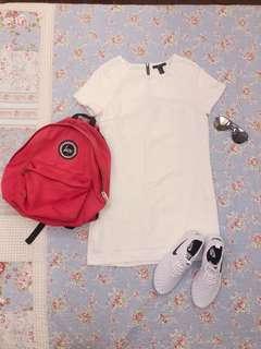 🚚 二手forever21 白色短洋裝