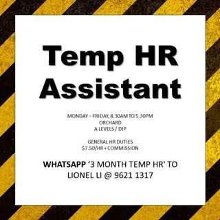 Temp HR // 3 Months // Dip or A levels
