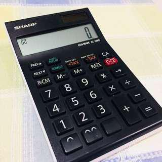 Sharp calculator check & correct