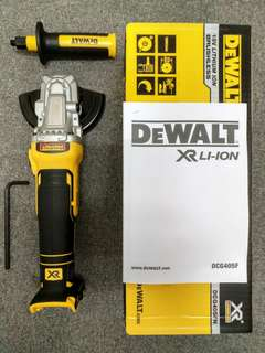 DeWalt DCG405FN XR Brushless Flat Head Grinder 125mm 18V Bare Unit (no bargain)